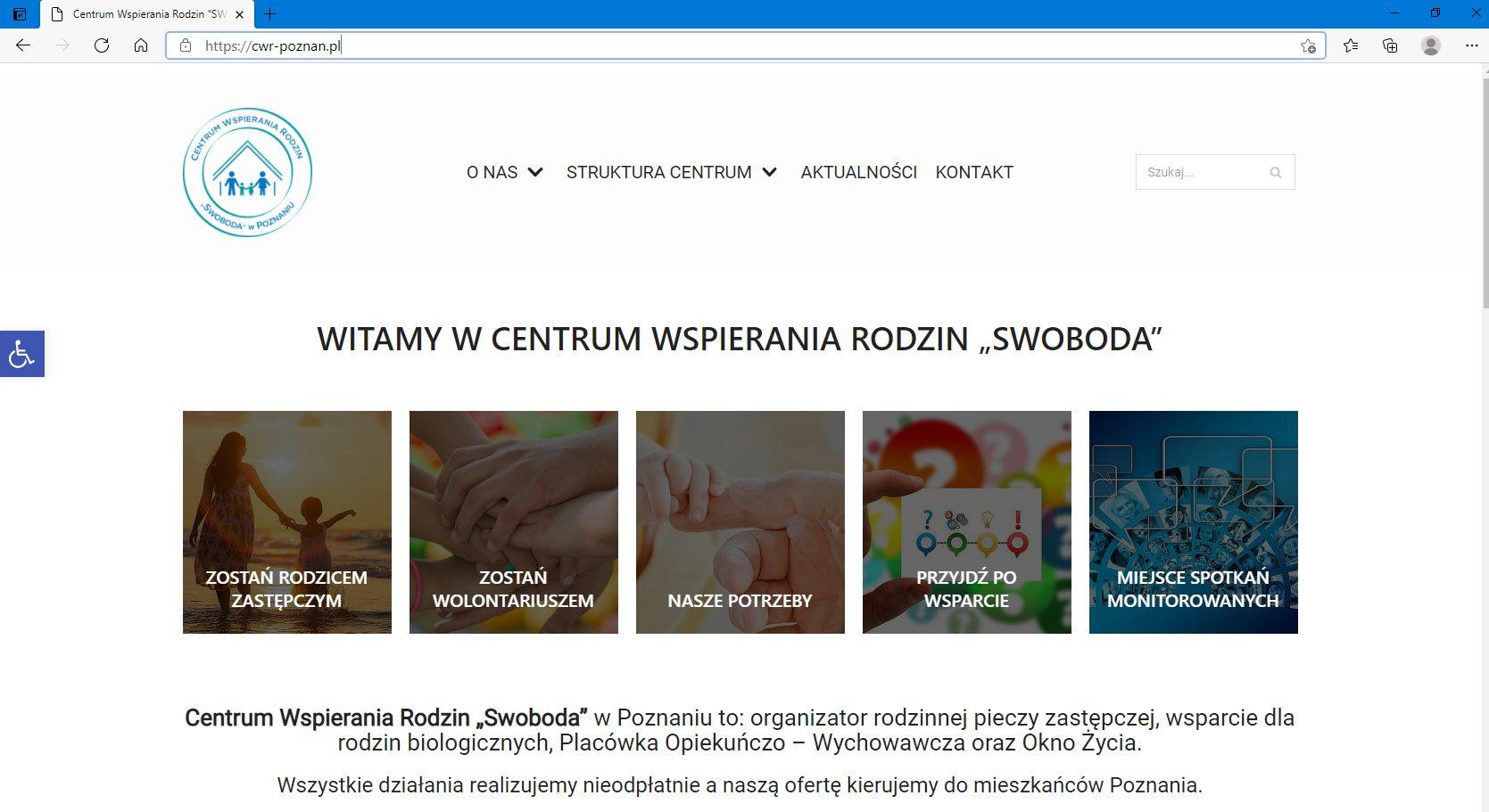 strona internetowa Centrum