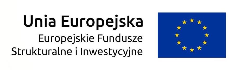 logo Unia Europejska Europejskie Fundusze Strukturalne i Inwestycyjne